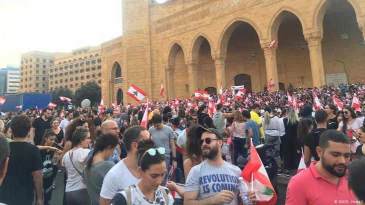 Anti-Regierungsproteste in Beirut; Foto: DW