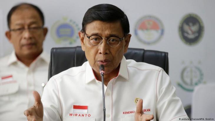 Der indonesische Sicherheitsminister Wiranto; Foto: picture-alliance/AP
