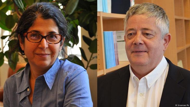 Bildcombo: die französisch-iranische Anthropologin Fariba Abdelkhah und ihr Kollege, der Soziologe Roland Marchal; Foto: Sciences Po