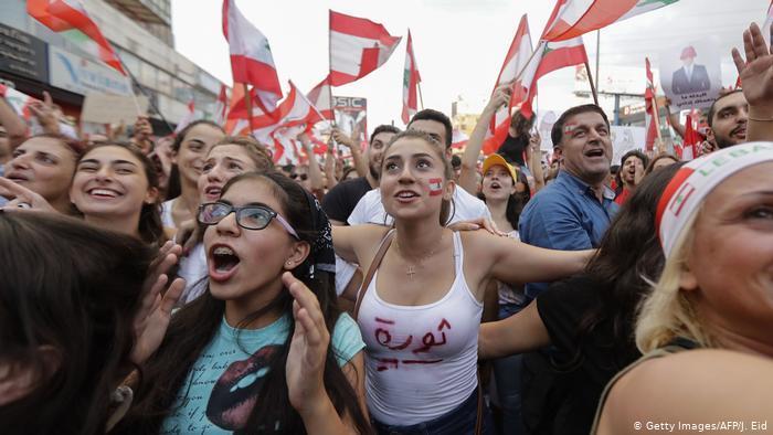 Anti-Regierungsproteste in Beirut; Foto: Getty Images/AFP