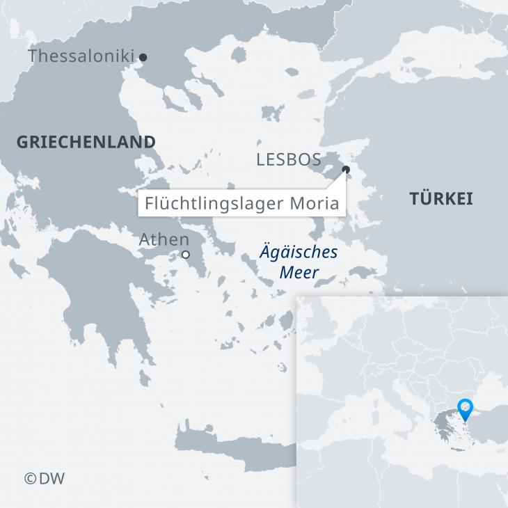 Karte Morias; Quelle: Deutsche Welle