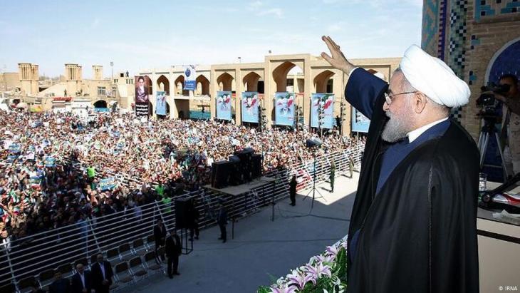 Irans Präsident am 10. November 2019 bei einer Rede im zentraliranischen Yazd; Foto: IRNA