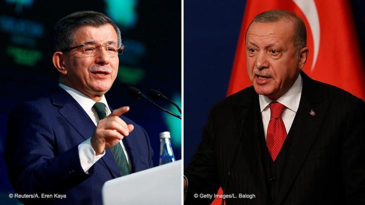 Bildcombo Ahmet Davutoğlu (l.) und Präsident Recep Tayyip Erdoğan; Foto: REUTERS/Alp Eren Kaya/Laszlo Balogh/Getty Images