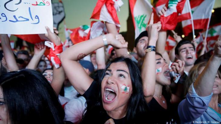 Anti-Regierungsproteste in Beirut; Foto: Reuters/A.M.Casares