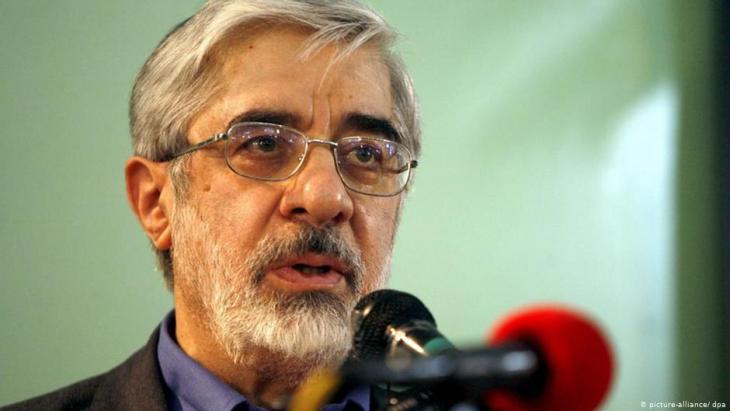 Der unter Hausarrest stehende Politiker und einstige Präsidentschaftskandidat Mir Hussein Mussawi; Foto: picture-alliance/dpa