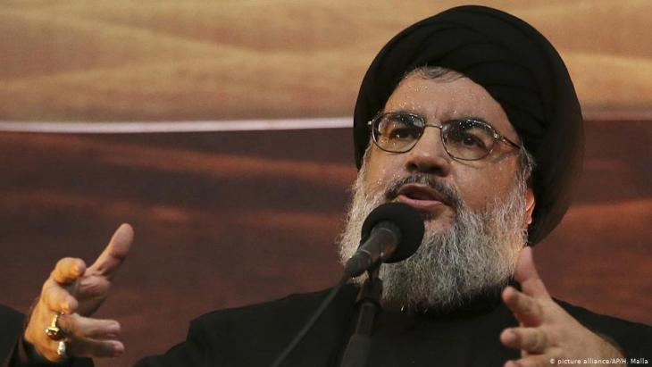 Hisbollah-Anführer Sajjed Hassan Nasrallah; Foto: picture-alliance/AP