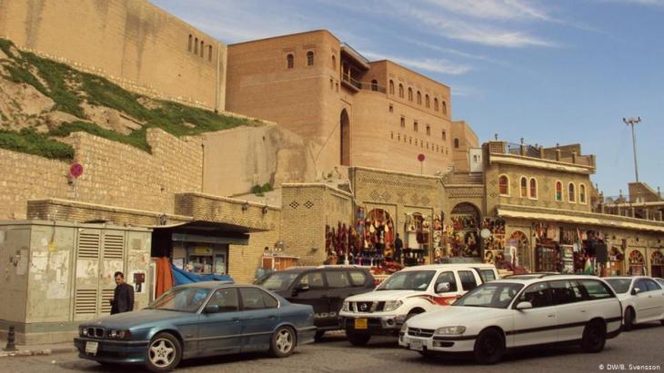 Blick auf die Zitadelle von Erbil; Foto: Birgit Svensson/DW