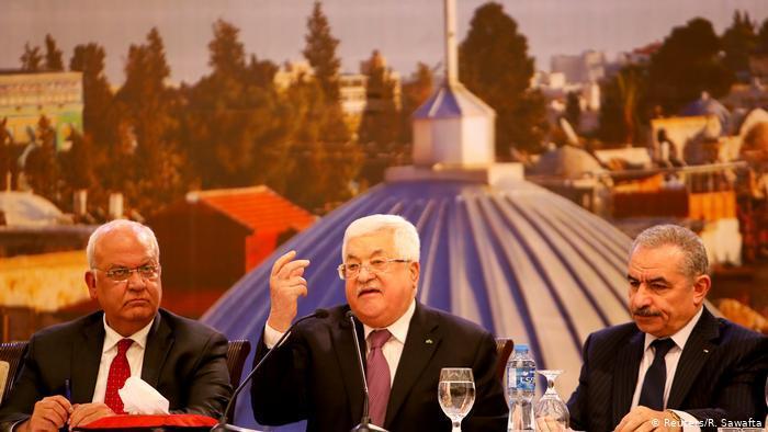 Palästinenserpräsident Mahmud Abbas reagiert auf Trumps Nahost-Friedensplan; Foto: Reuters/R. Sawafta