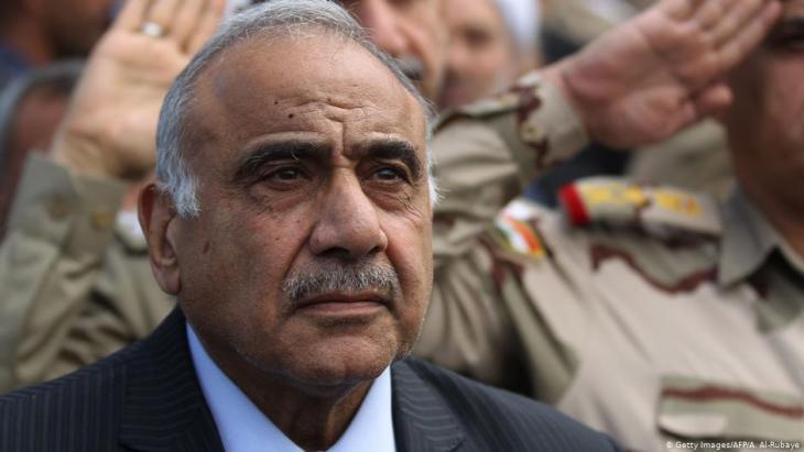 Der ehemalige irakische Ministerpräsident Ministerpräsident Adel Abdel Mahdi; Foto: AFP/Getty Images