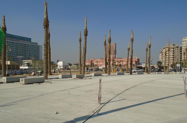 In Zement gegossen: Der Tahrir-Platz in Kairo; Foto: Birgit Svensson