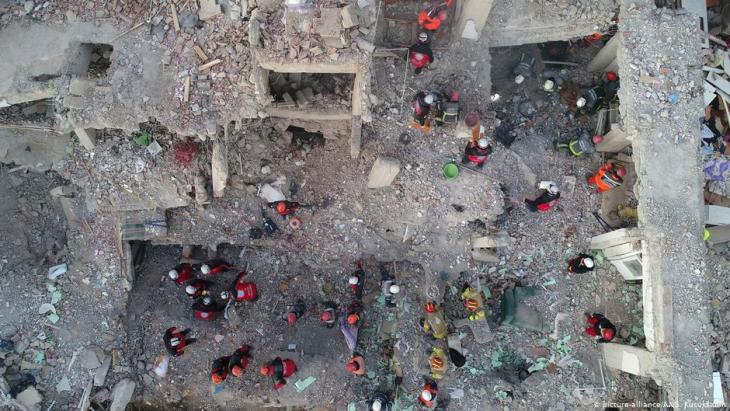Bergungsarbeiten nach dem Erdbeben in Elazig am 24.01.2020; Foto: picture-alliance/AA.