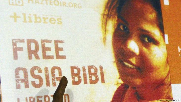 """Kampagne """"Freiheit für Asia Bibi""""; Quelle: AFP/Getty Images//Arif Ali"""