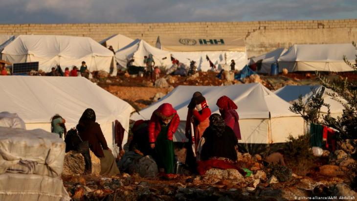 Flüchtlingslager in Idlib; Foto: picture-alliance/AA