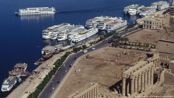 Nilkreuzfahrtschiffe in Luxor, Ägypten; Foto: picture-alliance