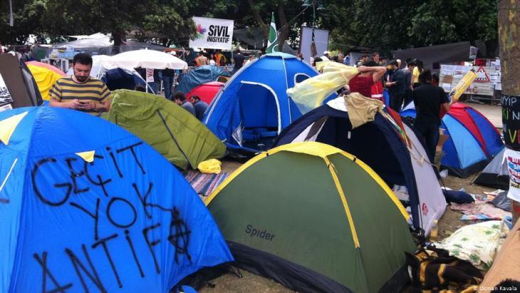 Proteste im Gezi-Park in Istanbul im Sommer 2013; Foto: Osman Kavala