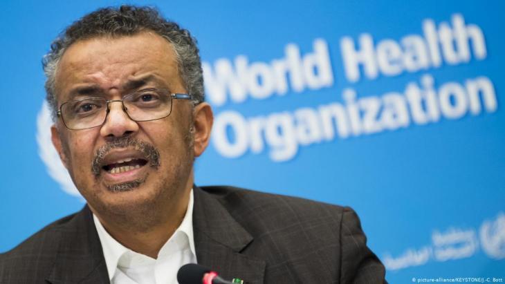 WHO-Generaldirektor Tedros Adhanom Ghebreyesus; Foto: picture-alliance/KEYSTONE/J.-C. Bott