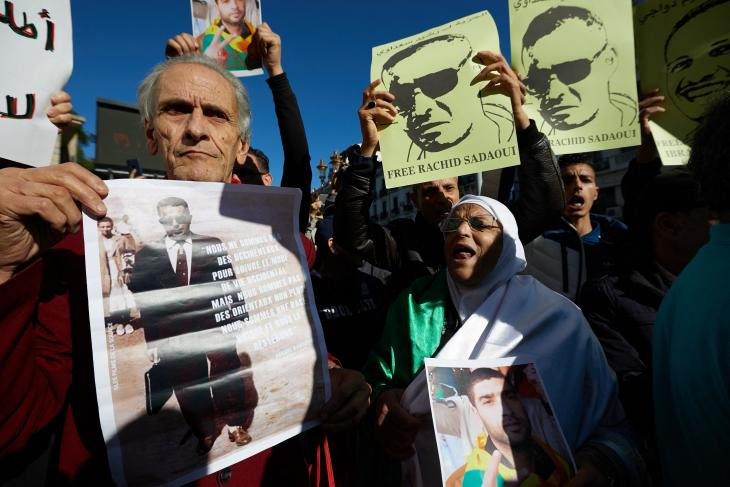 Demonstration für die Freilassung von Inhaftierten der Hirak-Proteste; Foto: picture alliance/abaca