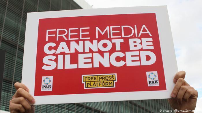 Kampagne für Presefreiheit in der Türkei; Foto: picture-alliance/Zuma Press