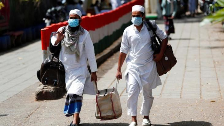 Muslimische Einwohner von Nizamuddin, einem muslimischen Stadtviertel Neu Delhis; Foto: Reuters