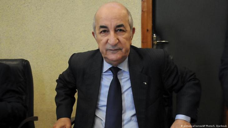 Algeriens Präsident Abdelmajid Tebboune; Foto: picture-alliance/AP