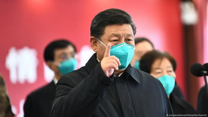 Chinas Staatschef Xi Jinping bei seinem ersten Besuch in Wuhan seit dem Ausbruch des Cornavirus; Foto: picture alliance/ Xinhua