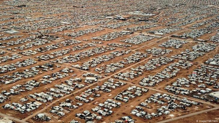Blick auf das Flüchtlingslager Zaatari in Jordanien; Foto: Imago/Itar-Tass