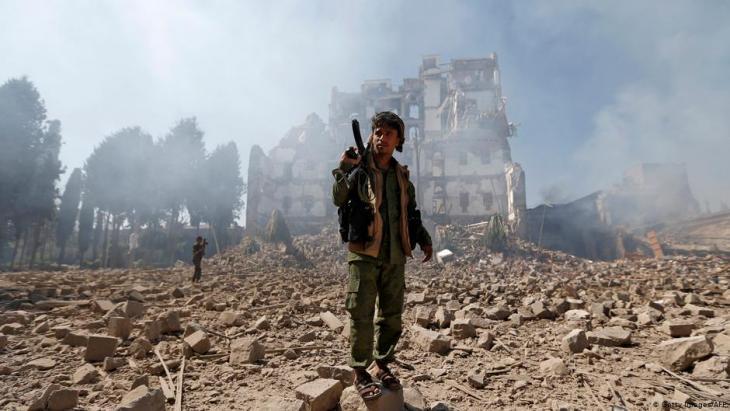 Sanaa nach einem Luftangriff der von Saudi-Arabien geführten Militärallianz gegen die Huthi-Rebellen im Jemen; Foto: AFP/Getty Images