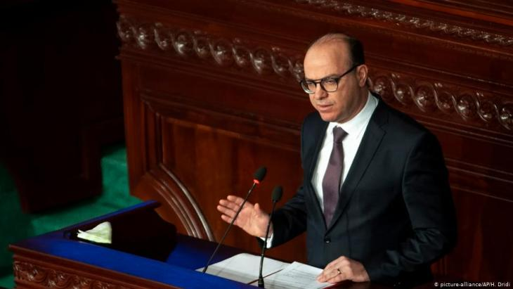Der tunesische Ministerpräsident Elyes Fakhfakh im Parlament in der Hauptstadt Tunis; Foto: picture-alliance/AP