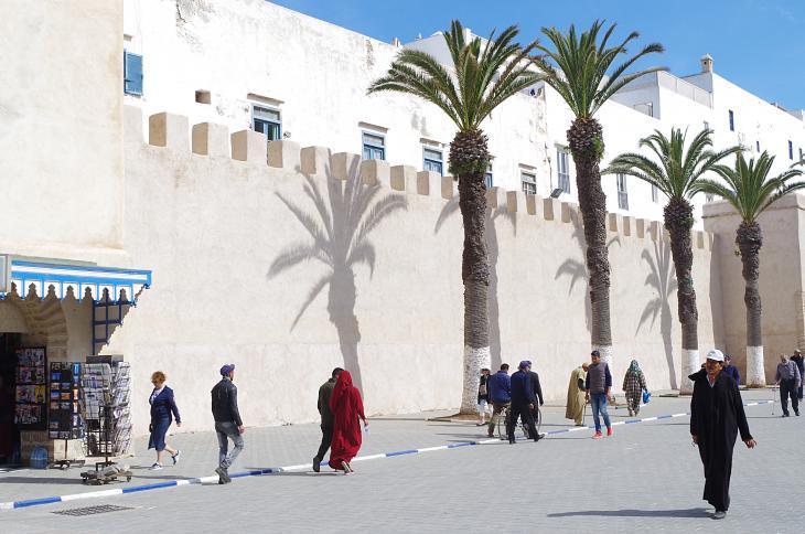 "Blick auf die Medina in der Nähe des ""Bab Sbaa""-Tors in Essaouira; Foto: Claudia Mende"