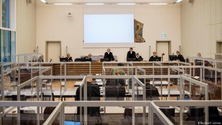 Im April begann in Koblenz der Prozess gegen zwei ehemalige syrische Geheimdienstfunktionäre; Foto: Reuters/T.Lohnes