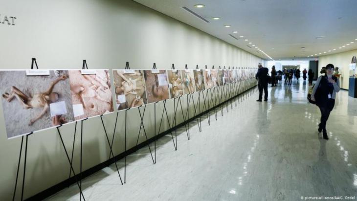USA UN Ausstellung von in Syrien Gefolterten und Ermordeten (picture-alliance/AA/C. Ozdel)