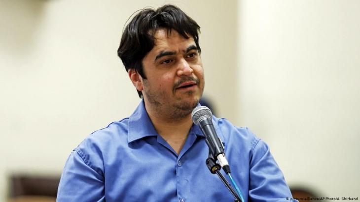 Der iranische Journalist Ruhollah Zam wurde zum Tode verurteilt; Foto: picture-alliance/AP