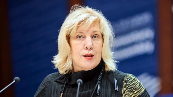 Dunja Mijatović, Menschenrechtskommissarin des Europarates; Foto: picture-alliance/dpa/Europarat/S. Weltin
