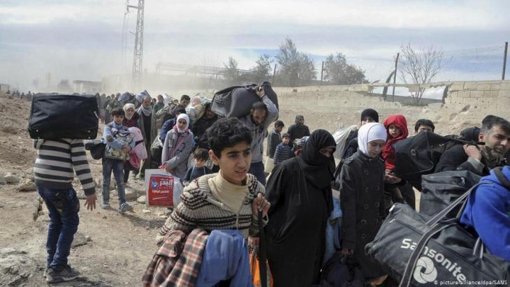 Flüchtlinge aus Syrien; Foto: picture-alliance/dpa/Uncredited/SANS/AP