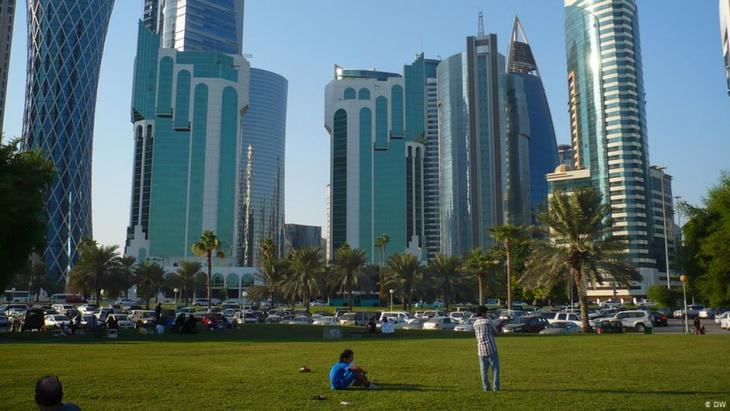 Hochhäuser in Doha, Katar Foto: Brigitte Osterath