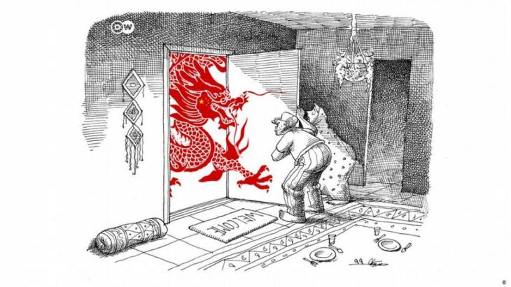 Karikatur der Woche Mana Neystani Kooperationsabkommen Iran China (Foto: Mana Neystani)
