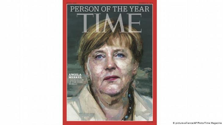 """Das Magazin """"Time"""" kürte Merkel 2015 zur """"Person des Jahres""""; Foto: picture-alliance/AP/Time Magazine"""