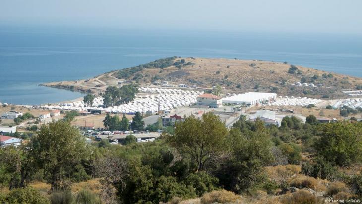 Flüchtlingscamp Kara Tepe auf Lesbos; Foto: Henning Goll/DW
