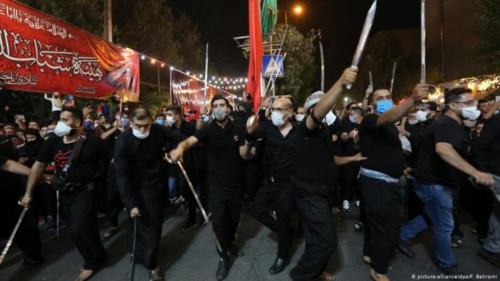 Eingeschränkte Ashura-Feiern im Iran; Foto: picture-alliance/dpa