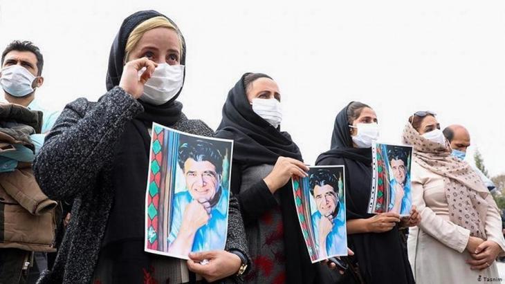 Trauer um den iranischen Musiker Mohammad-Reza Schadscharian; Foto: Tasnim