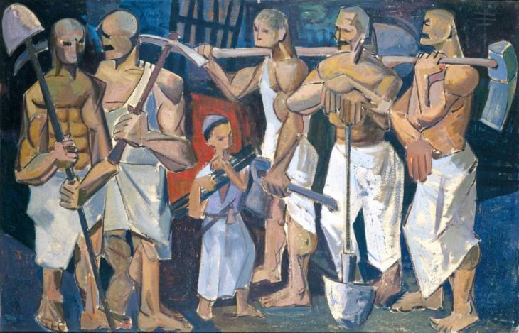 """Kunstwerk """"The Hands"""" aus dem Jahr 1956 des irakischen Künstlers Kadhim Haydar; Foto: Waddah Faris, courtesy of: Dia Azzawi"""
