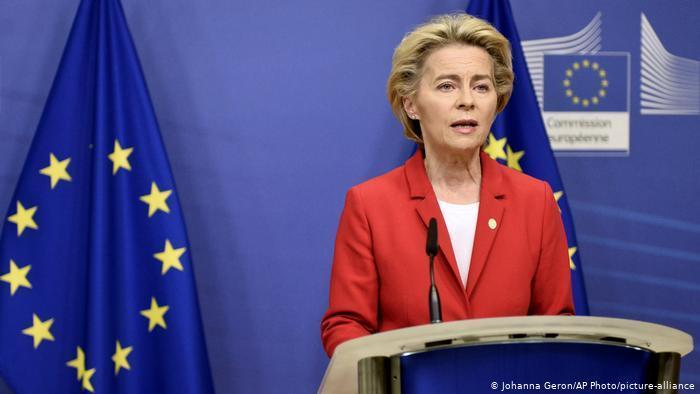 EU-Kommissionspräsidentin Ursula von der Leyen; Foto: AP/picture-alliance