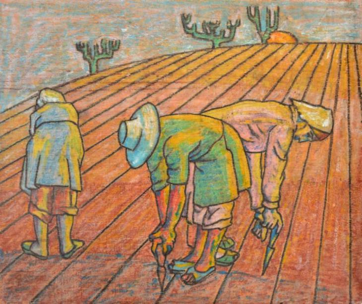 """""""Women Farmers"""" der syrischen Künstlerin Leila Nseir; Foto: Ahmed Kasha"""