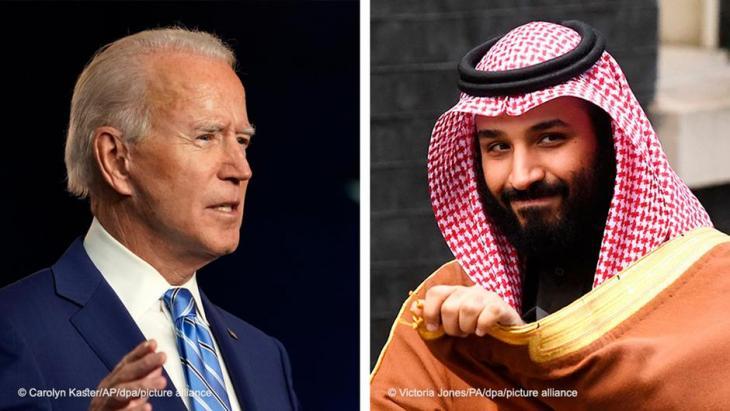 Joe Biden Kronprinz Mohammed bin Salman. Bildkombo: DW