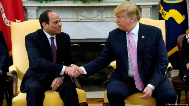 """Trump und sein """"Lieblingsdiktator"""" Abdul Fattah al-Sisi im Weissen Haus (Foto: Reuters/K. Lamarque)"""