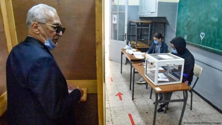 Stimmabgabe beim algerischen Referendum Anfang November 2020 (Foto: Getty Images/AFP)