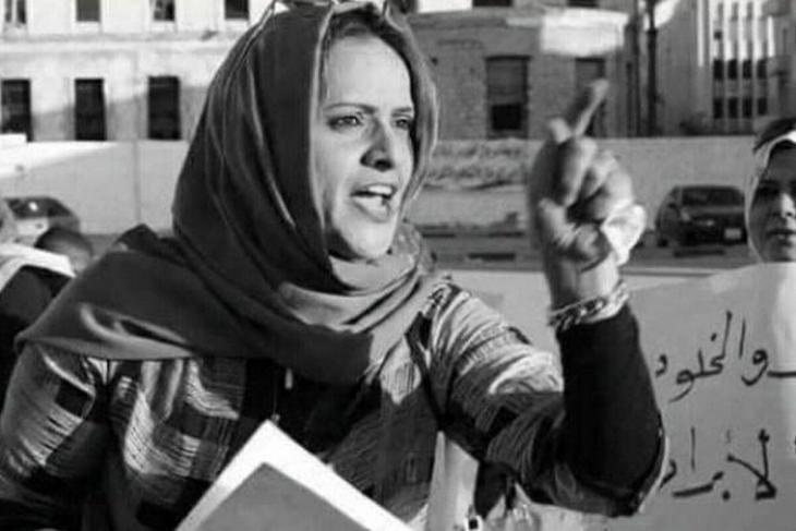 Die libysche Rechtsanwältin, Menschen- und Frauenrechtsaktivistin Hanan al-Barassi wurde 10 November 2020 in Bengazi auf offener Straße erschossen. (Foto: PeaceMusicLovee/Twitter)
