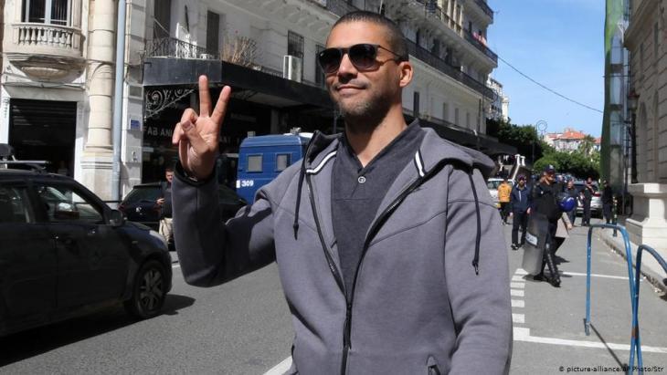 Algerien Journalist Khaled Drareni; Foto: Picture Alliance/AP Photo/Str