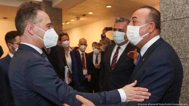 Türkei Heiko Maas und Mevlut Cavusoglu; Foto: picture-allaince/AP Photo/Turkish Foreign Ministry