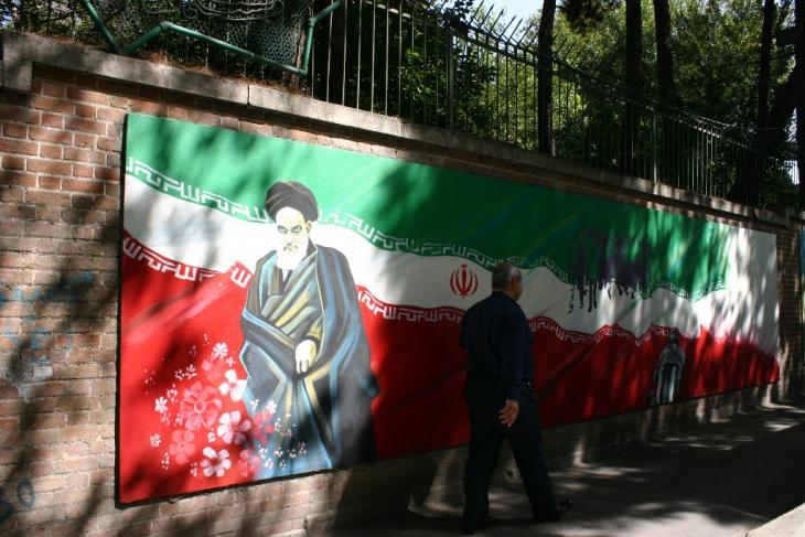 Diesen Iran kennt man zu Genüge: Anti-US-Graffitis in Teheran. (Foto: Marian Brehmer)